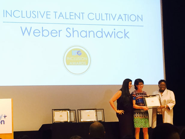 Weber Shandwick accepts Inclusive Talent Cultivation Award