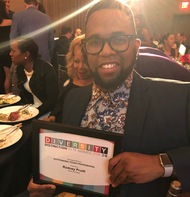 Diversity Distinction in PR Awards - Rodney Pruitt