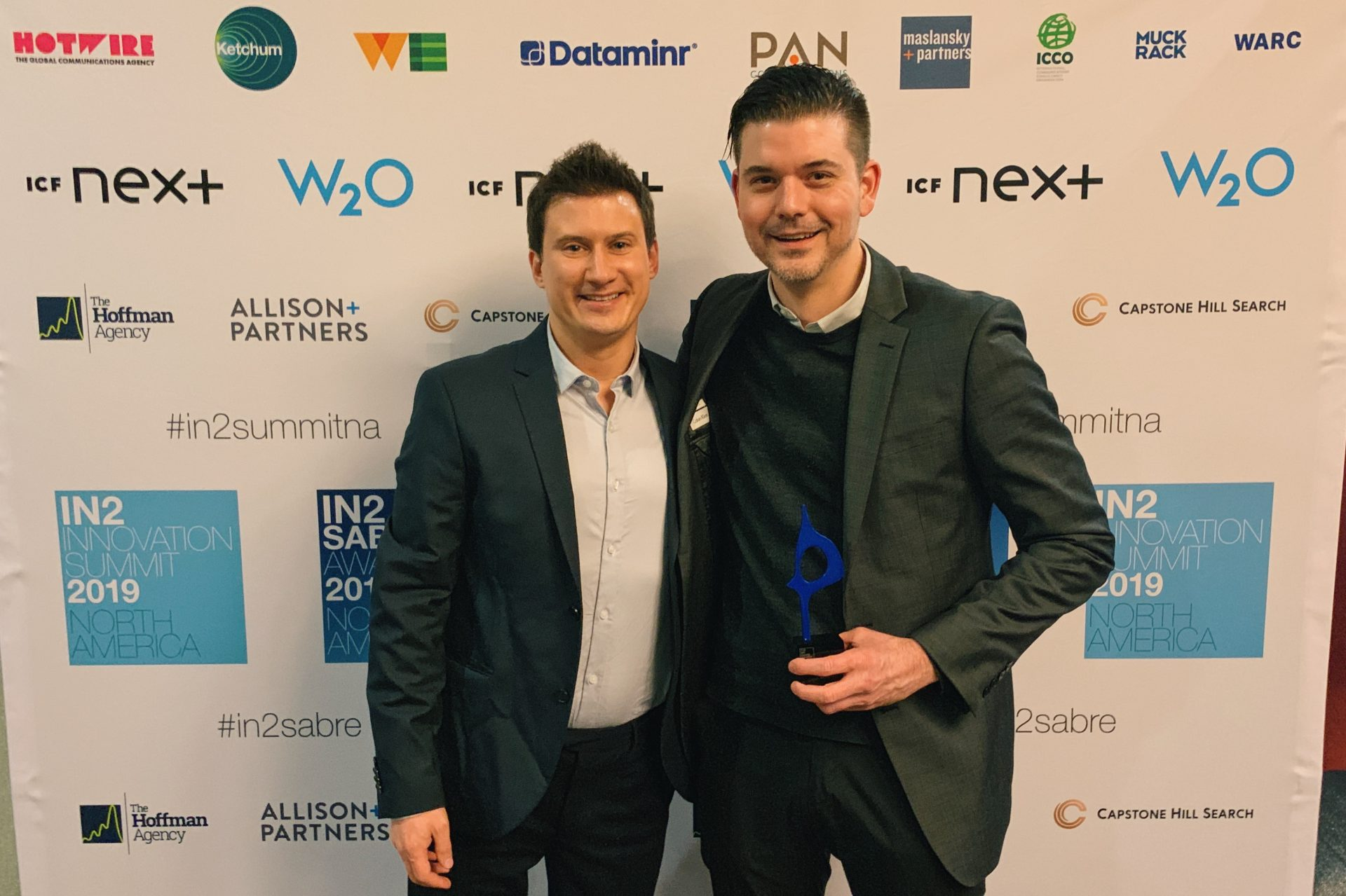 Weber Shandwick Wins In2 SABRE Award for 'Q' AI Tool at The Holmes Report's 2019 Ceremony