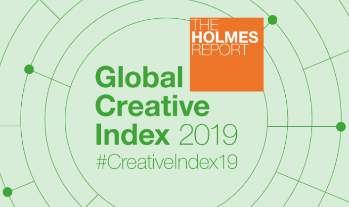 Holmes Report Global Creative Index Logo surrounded by concentric circles